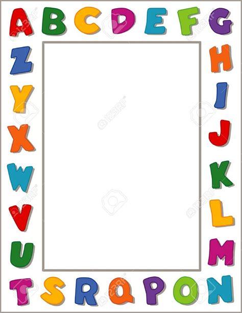printable alphabet letters to frame preschool borders clipartion com