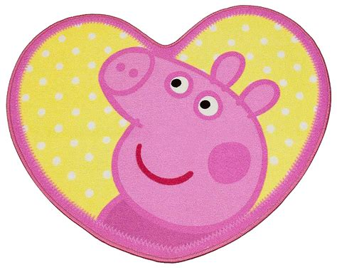 tappeto peppa pig peppa pig oink a forma di cuore tappeto tappeto per