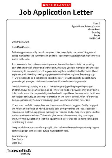 writing formally application letter