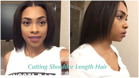 how to trim relaxed hair how i trim my shoulder length hair relaxed hair journey