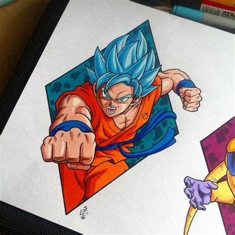 goku tattoo designs goku saiyan god blue design by hamdoggz on