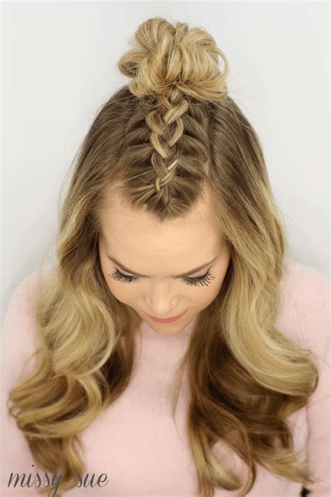 braids on top of head hairstyles black braid styles with knot on top of the head mohawk