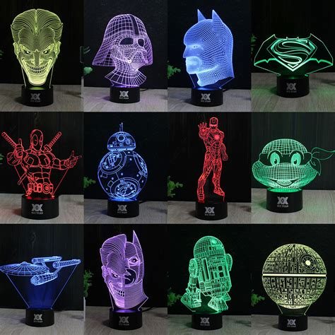 star wars night light hui yuan star wars l 3d visual led night lights for