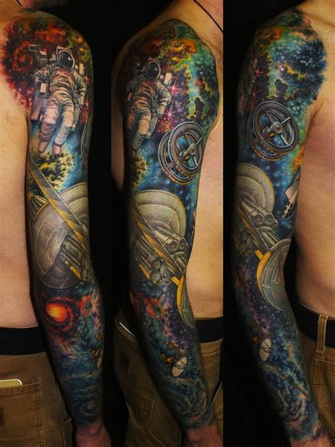 nice sleeve tattoos 35 collection for amazing science tattoos golfian