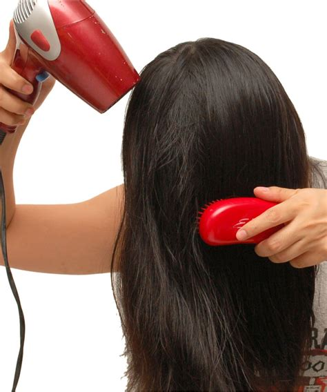Using Cold Hair Dryer before you your hair using a hair dryer turn it on
