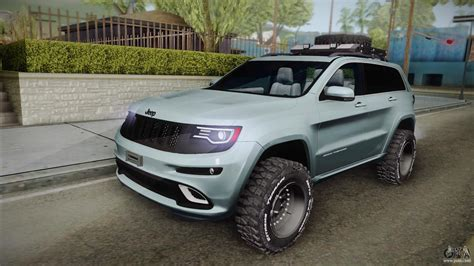 lifted jeep grand cherokee jeep grand cherokee srt lifted for gta san andreas