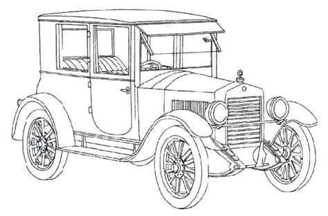 Coloring Page Of Model T Car | ford model t coloring sheets coloring pages