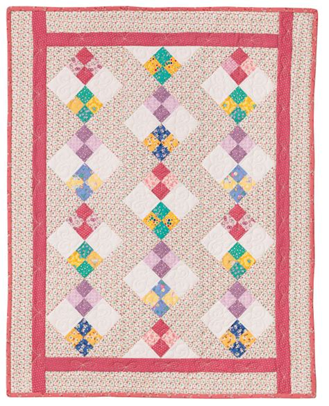 Quilts In A Day by Four Patch Quilt Pattern By Quilt In A Day Eleanor Burns 1295 Easy