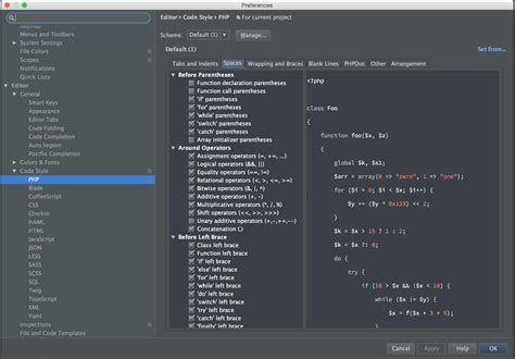 configure xp with phpstorm phpstorm blade auto indenting too far on closing statements