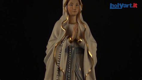 madonna di lourdes statua legno quot madonna di lourdes quot dipinta val gardena