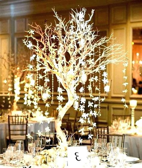 white tree branches for centerpieces white artificial tree