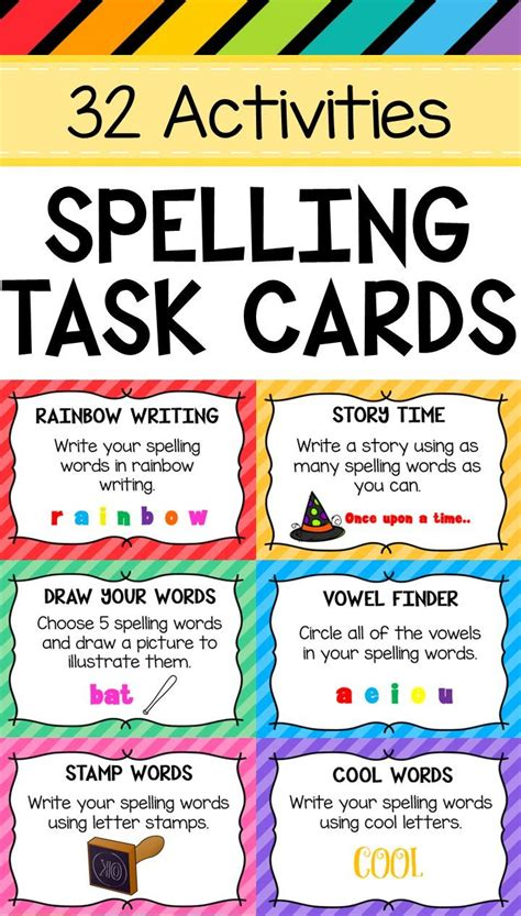 1000 ideas about rainbow writing on spelling spelling task cards any list word scrambler rainbow