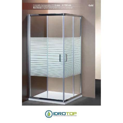 box doccia cromato box doccia rettangolare 70x90 cristallo serigrafato 6mm