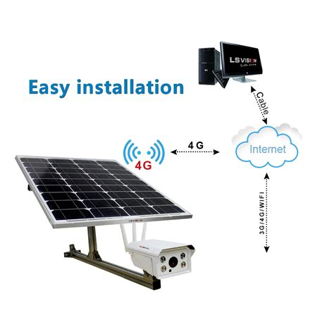 solar ls for outside solar powered wireless wifi cctv camera 4g ip camera with