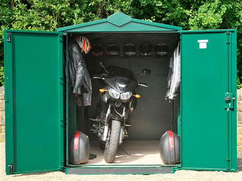 Motorcycle Storage Shed by Choosing Whether To Go With A Portable Or Permanent
