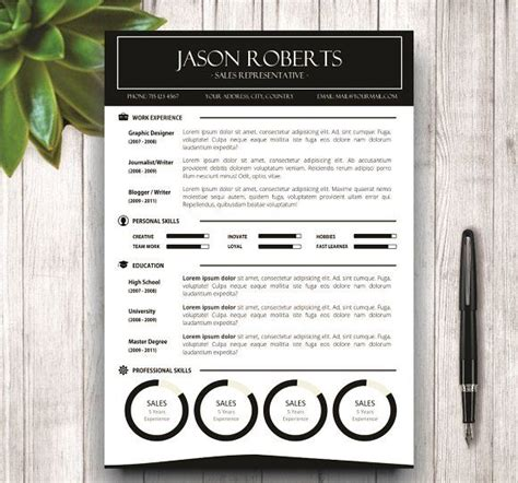 Pages Resume Templates Not In by 35 Best Cv Resume Templates In Ms Word Images On