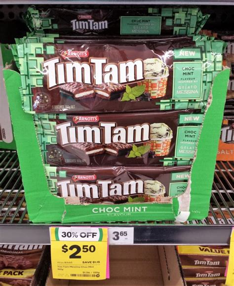 Timtam Choc Mint new on the shelf at woolworths 26th february 2017 new