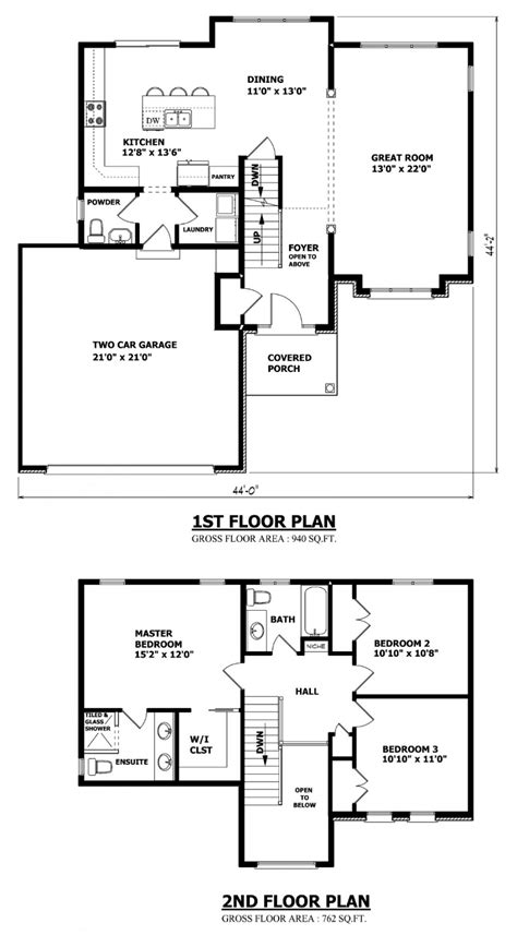 floor plan 2 storey house canadian home designs custom house plans stock house plans garage plans