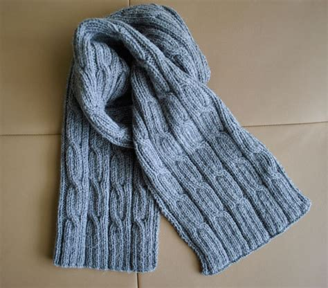 pdf knitting pattern s scarf cables