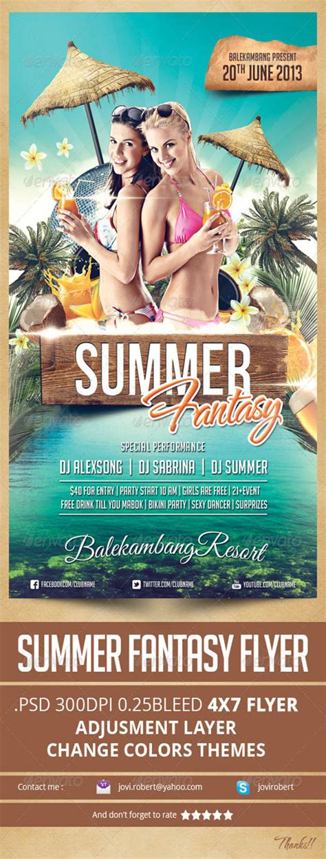 graphicriver flyer psd graphicriver summer fantasy flyer photoshop psd