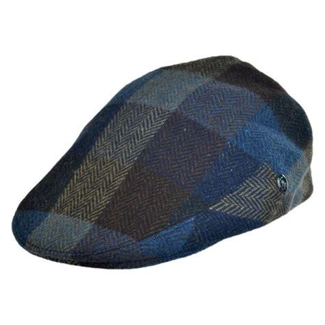 L Caps by City Sport Caps Herringbone Squares Donegal Tweed Wool