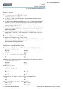 class 8 math worksheets and problems logical reasoning