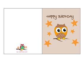 Print Out Birthday Card Owl Birthday Card 1 Png 1650 215 1275 Free Printable Owl
