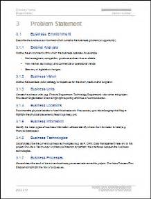 Business Problem Statement Template Feasibility Study Ms Word Template Instant Download