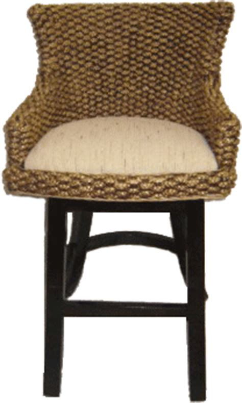 water hyacinth seagrass swivel bar stool