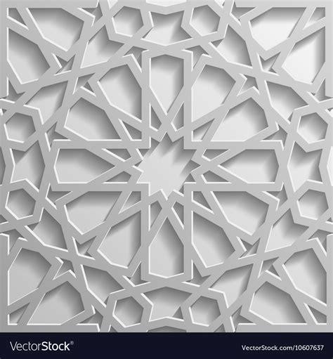 islamic pattern 3d model free seamless islamic pattern 3d traditional arabic vector image