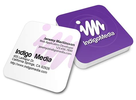 Rounded Corner Business Card Template Indesign by Square Business Cards With Rounded Corners Image