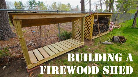 mdm builds  firewood shed instructions  description