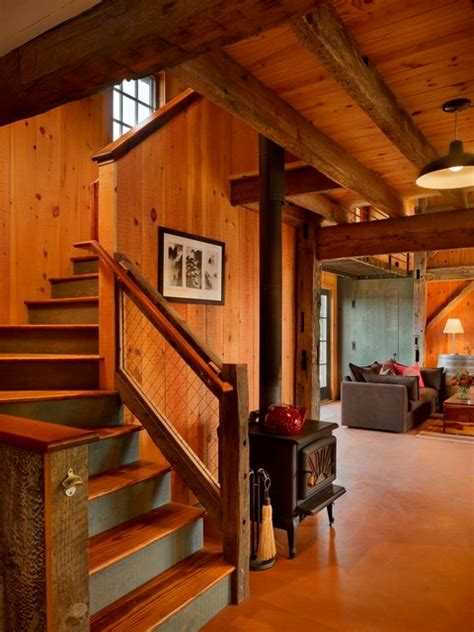 Cabin Plans With Basement princeton barn conversion rustic staircase
