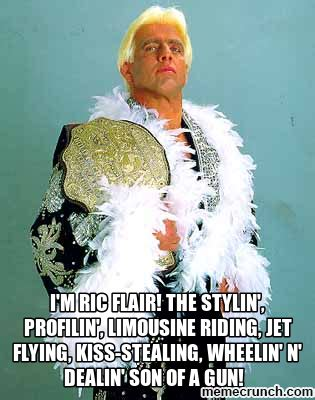 Ric Flair Memes - i m ric flair the stylin profilin limousine riding