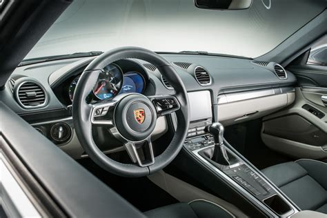 porsche cayman interior porsche launches new 718 cayman with 4 cylinder turbo