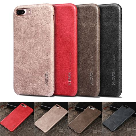 x level vintage pu leather slim back phone cover for iphone xs max xr 7 8 ebay