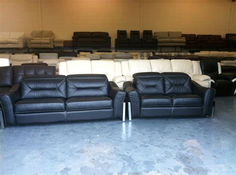sisi italia sofa sisi italia san remo black leather static 3 2 seater sofas