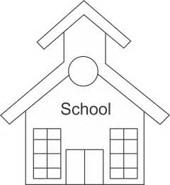 Back To School Outline school house outline cliparts co