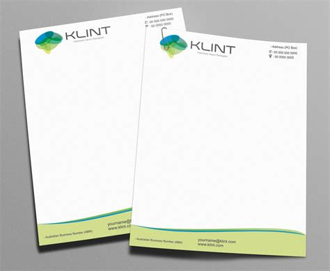 Design Works At Home by Professional Upmarket Letterhead Design For Klint By