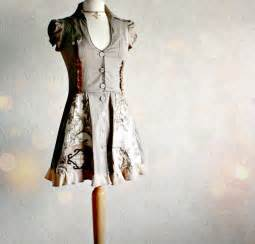 Shabby Chic Baby Clothes by Taupe Brown Women S Dress Upcycled Clothing Shirt Dress