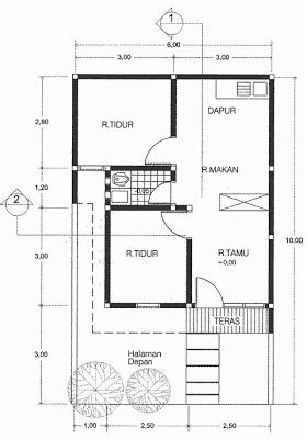 informasi rumah minimalis denah rumah minimalis type 21