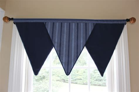 triangle valance pattern triangle valance for boys room