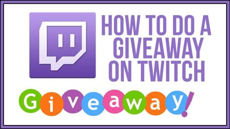 How To Do A Giveaway On Twitch - twitch tv twitch tutorials for your stream