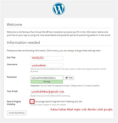 tutorial membuat website dengan wordpress cms tutorial membuat website wordpress cms beginner yasir252