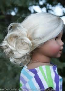 Simple updo from doll diaries will make your 18 inch doll look so