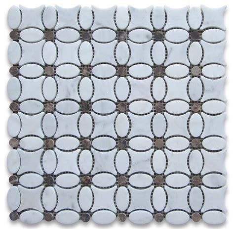 flower pattern wall tiles stone center corp 12 quot x12 quot carrara white flower pattern