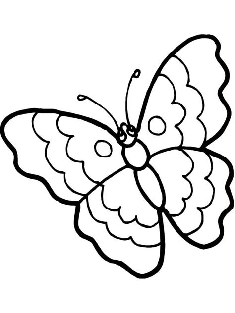 cartoon butterfly  sad eyes coloring page
