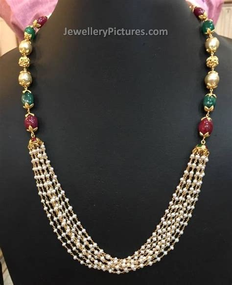 pearl necklace design pearl gold necklace designs jewellery designs