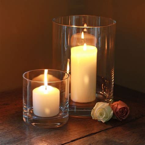 christmas hurricane candle holders