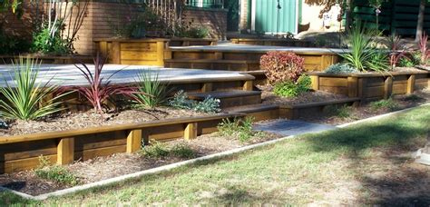 garden wall australia style ideas gardens decking stairs and boardwalks